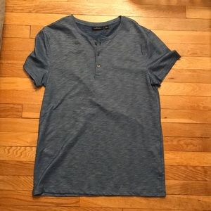 Marc Anthony Short Sleeve Slub Henley Size Large